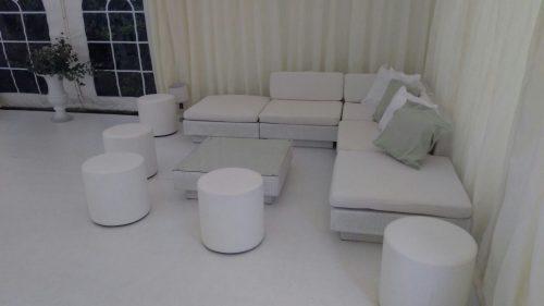 club poufs with white marrakesh sofas