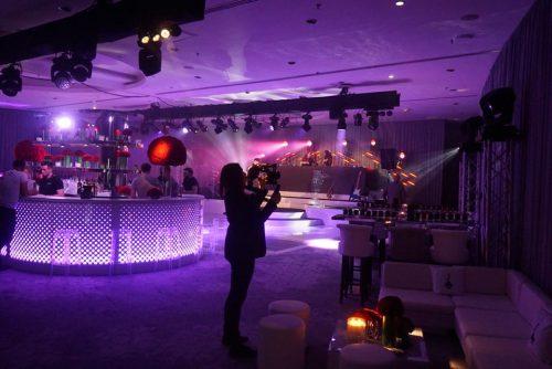 Ghost stools in night club setting