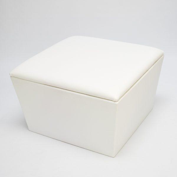 ottoman hire; ana mandara ottoman module in white
