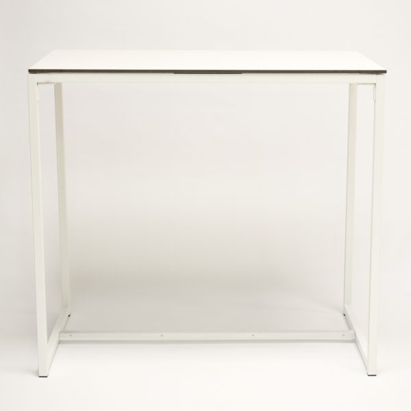 table hire; white high bistro style table for hire