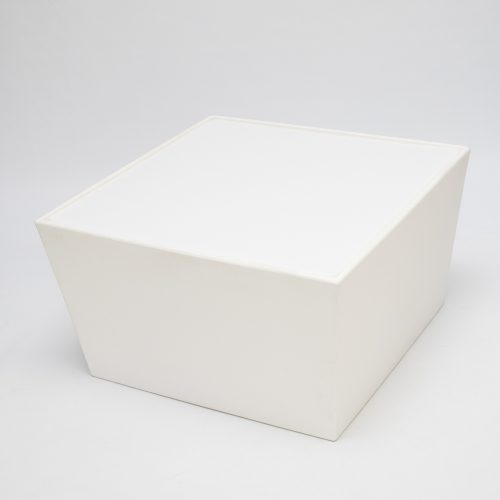 table hire; ana mandara table module in white to hire