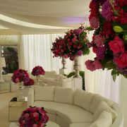 White-bulgari-sofa-sets-flowers