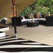 Dark Bulgari sofa in African safari style