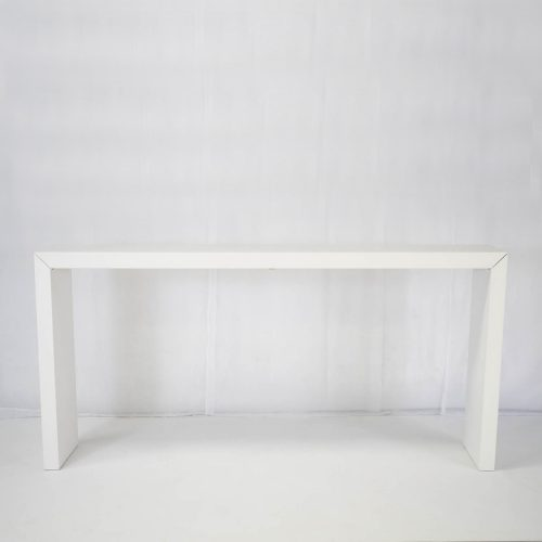 titan high bar table white for hire