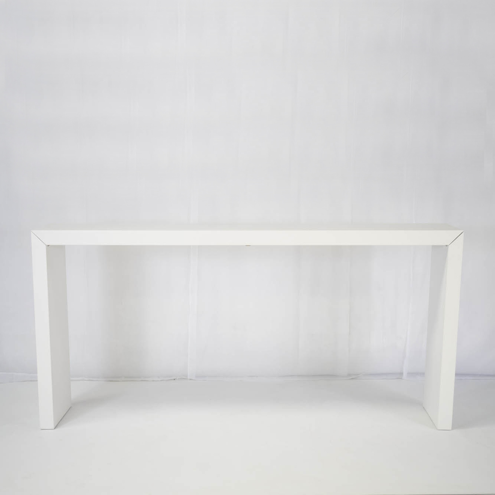 Titan High Bar Table For Hire In White Rio Lounge