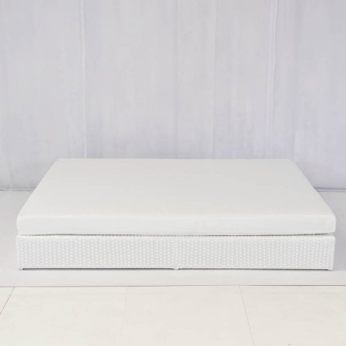 chill out furniture hire, garden furniture hire: togabo daybed white for hire