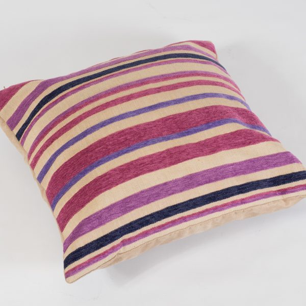 scatter cushion hot pink stripe for hire