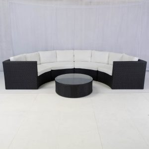 bulgari sofa set black for hire