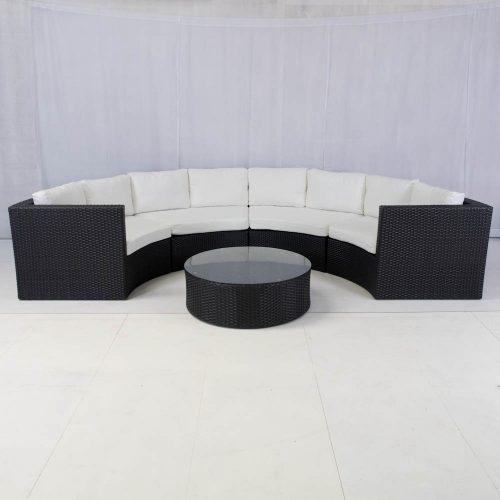 bulgari sofa set black for hire