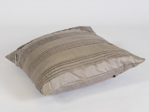 scatter cushion pewter/silver stripe for hire