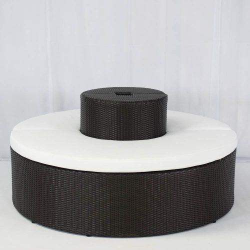 wedding furniture hire: banyan sofa set brown/black for hire