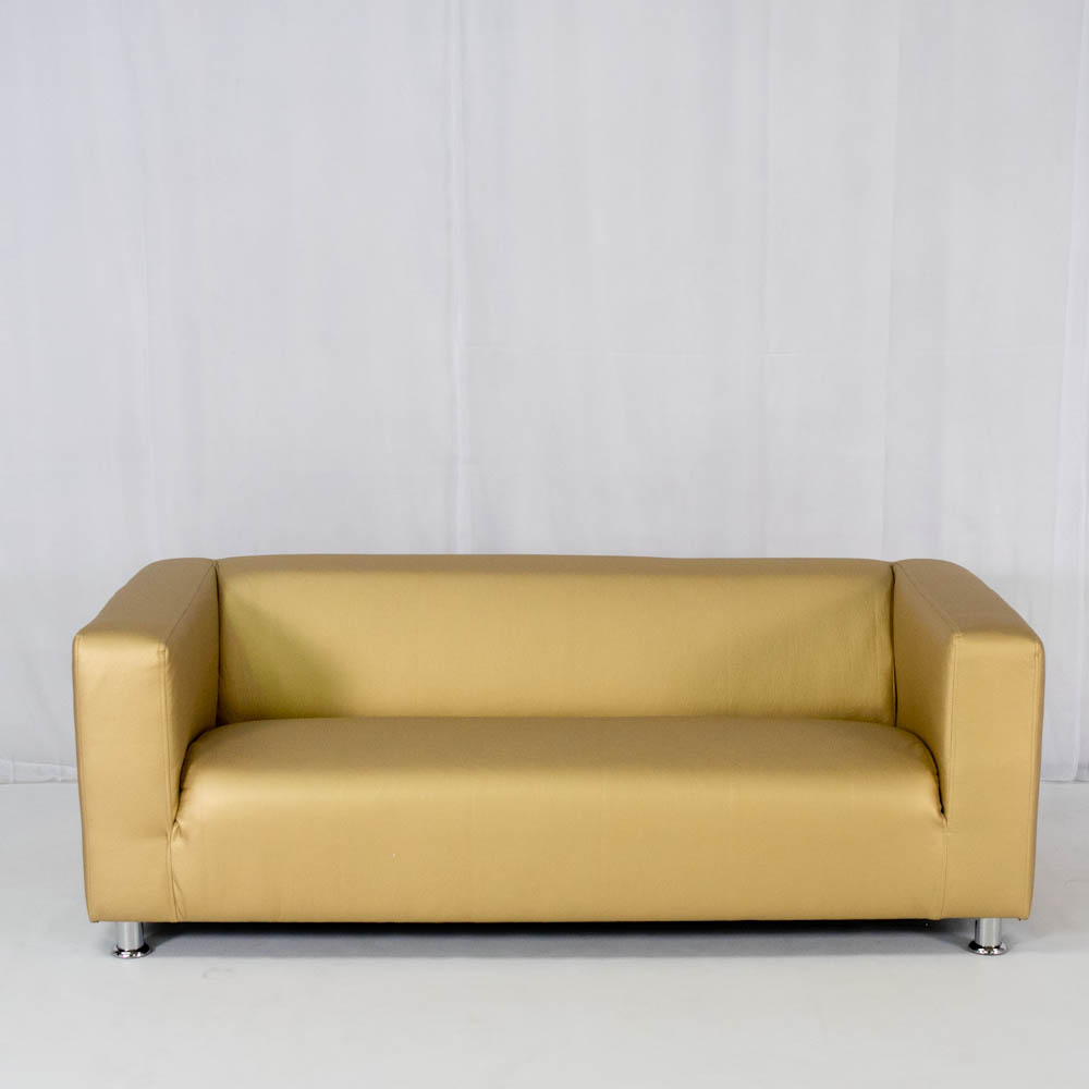 club lounge sofa gold