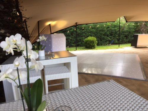 4 seater white rattan bistro sets