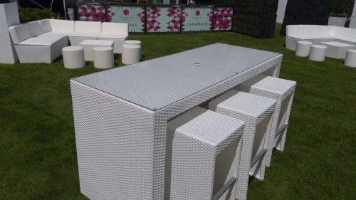 south beach white bistro set 6 seater