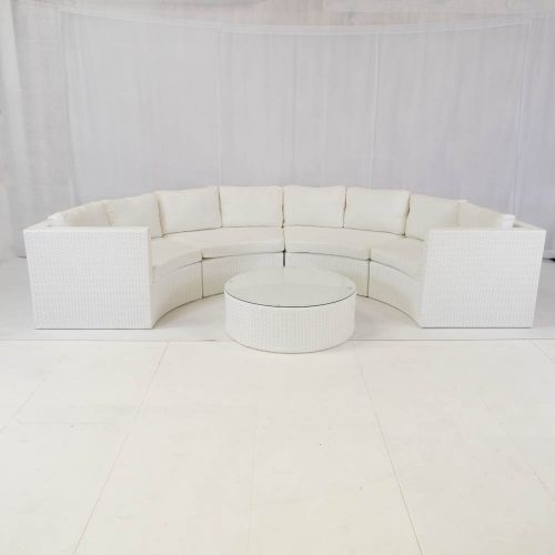 bulgari sofa set white for hire