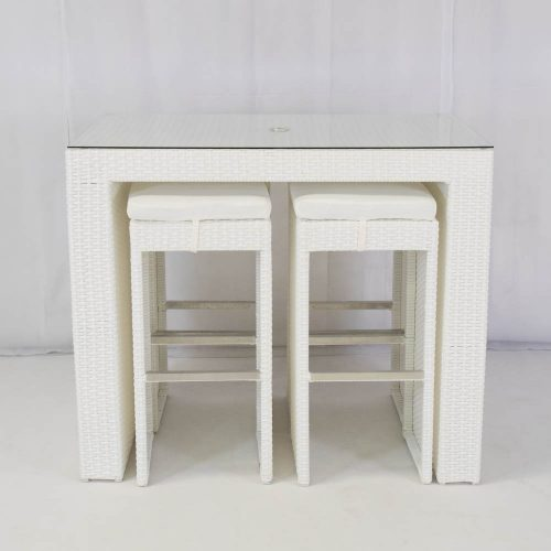 south beach bistro set white seating 4 for hire