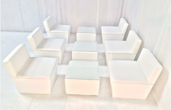 ana mandara sofas with cabo large white cube table