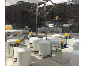 wedding furniture hire: mirror cubes