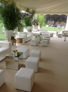 wedding furniture hire: ottomans