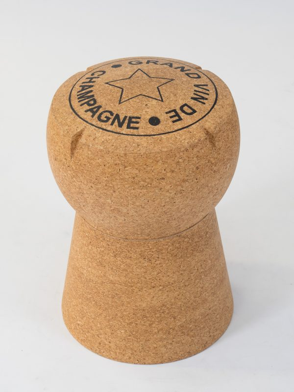 stool in design of a champagne cork