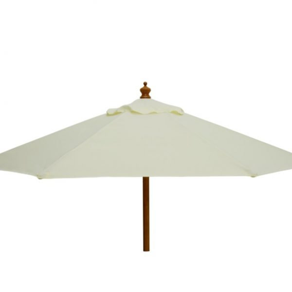 cream parasol umbrella hire