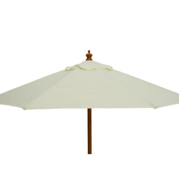 cream parasol umbrella hire