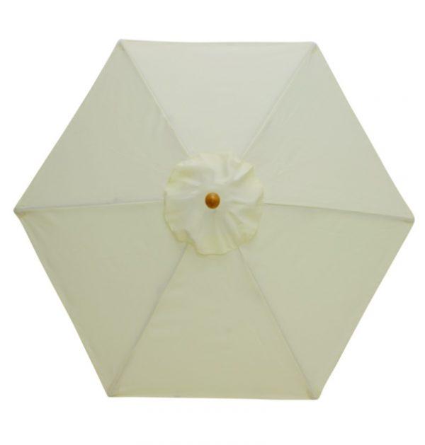 Cream parasol hire