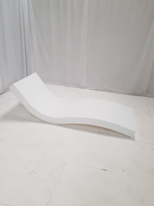 white rattan daybed for hire