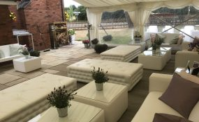 garden furniture hire for a summer garden party