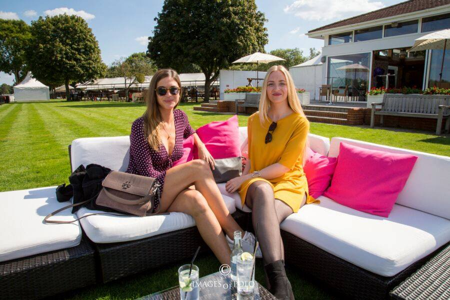 rattan furniture hire at polo event