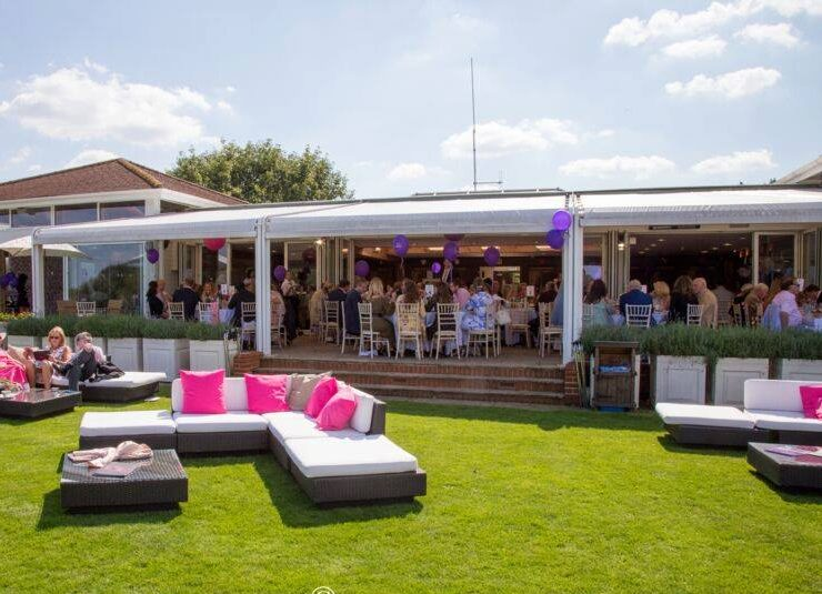 rattan furniture hire outdoors at polo club