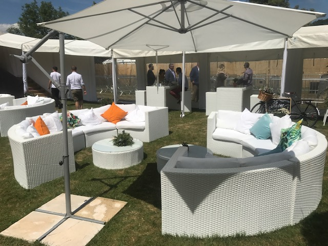 Bulgari outdoor sofa hire at Henley