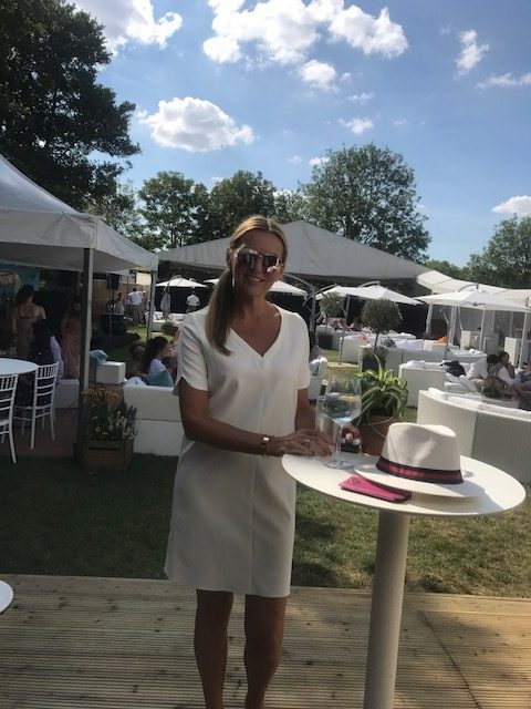 Jo at Henley regatta with outdoor furniture hire