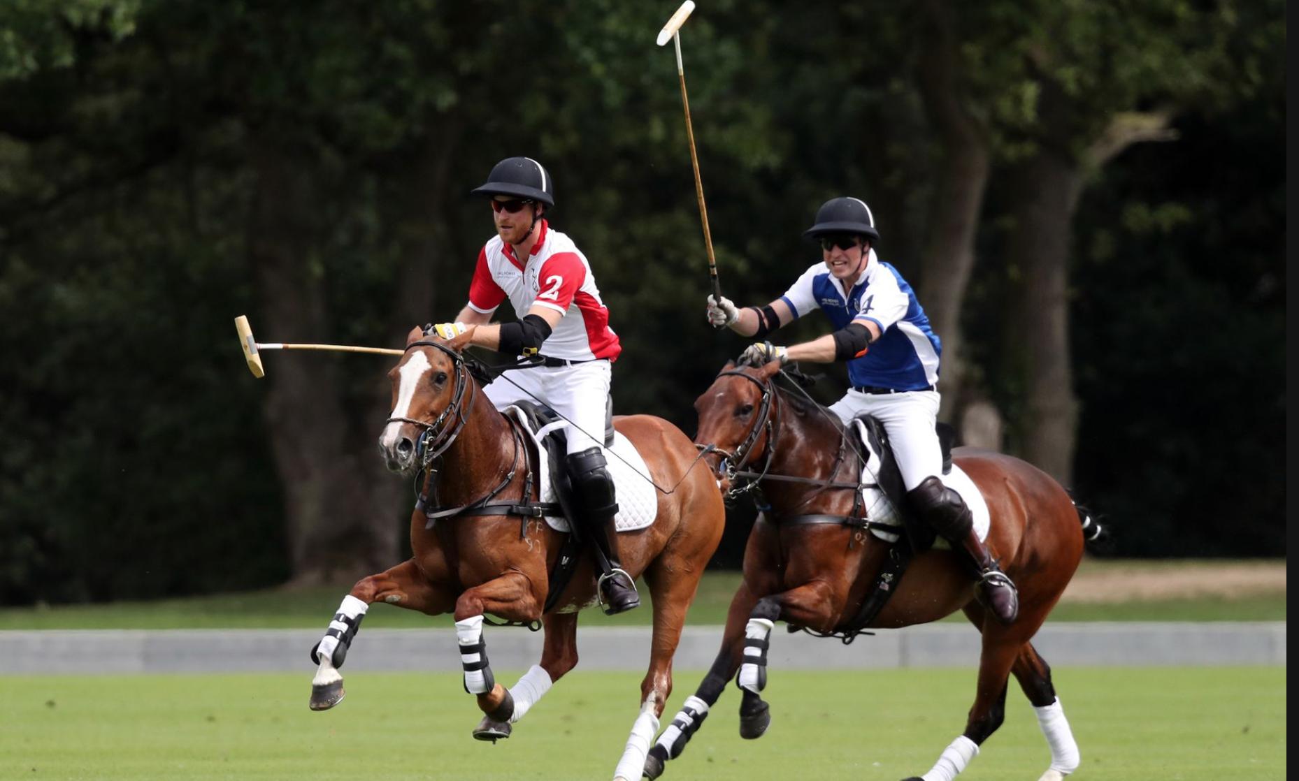 prince harry prince william playing polo