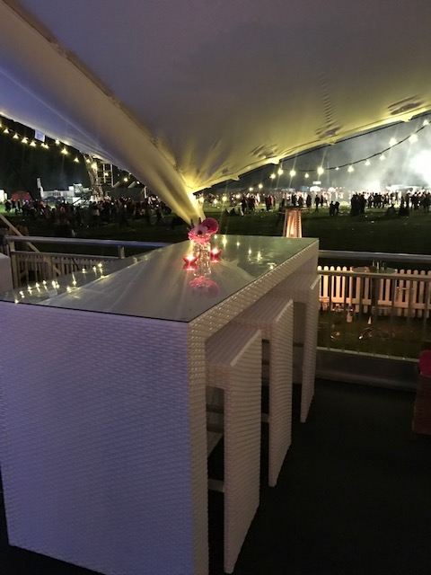 bistro furniture hire at Bedford Park Concert