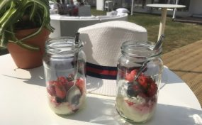 eton mess with outdoor furniture hire at Henley