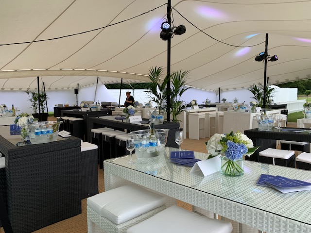 rattan furniture hire bistro stools and tables at Polo Club