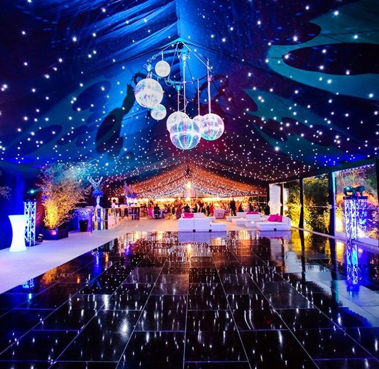 furniture hire for a christmas party in a large marquee