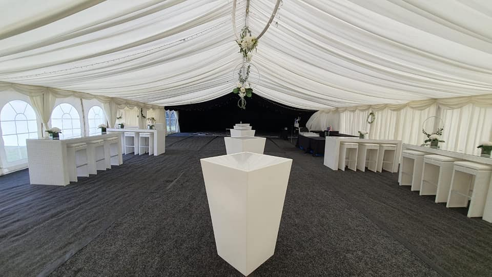 wedding furniture hire in marquee