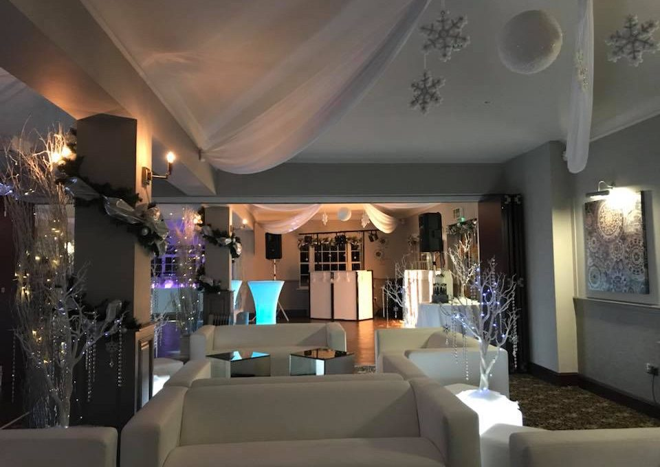 christmas party white furniture hire