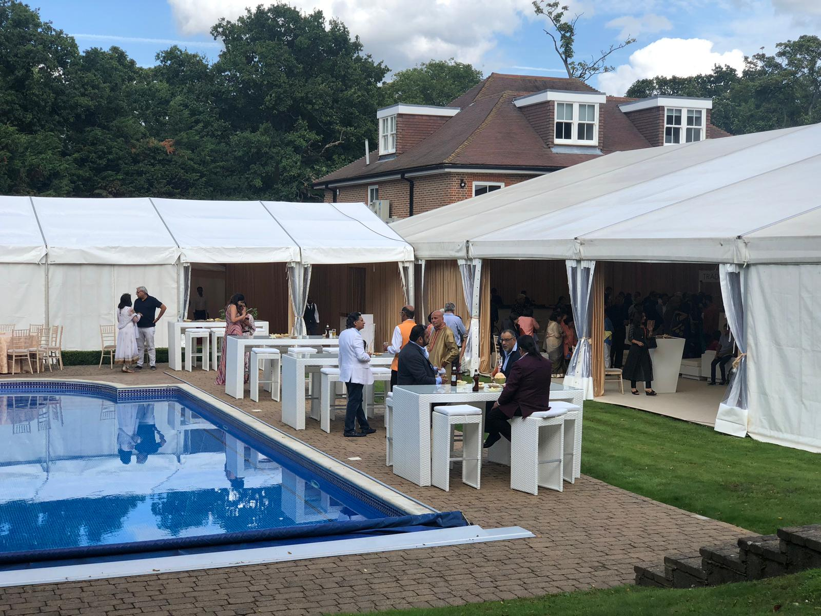 Bistro furniture hire for pool party
