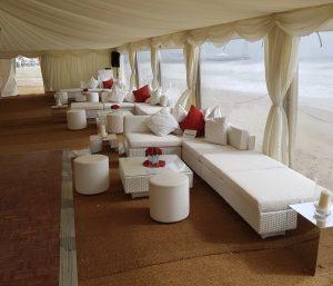 rattan furniture hire: wedding sofas