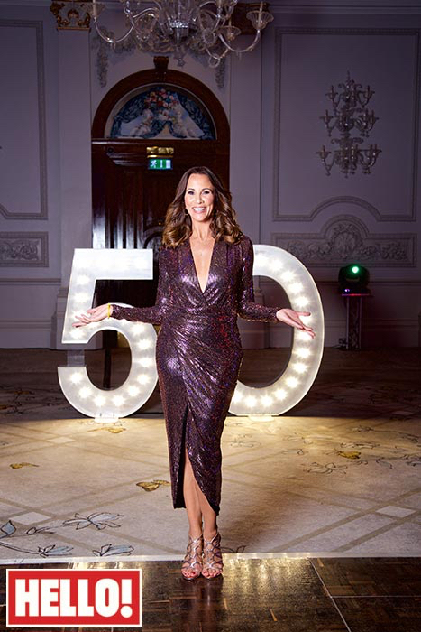 party furniture hire: Andrea McLean with light up numbers