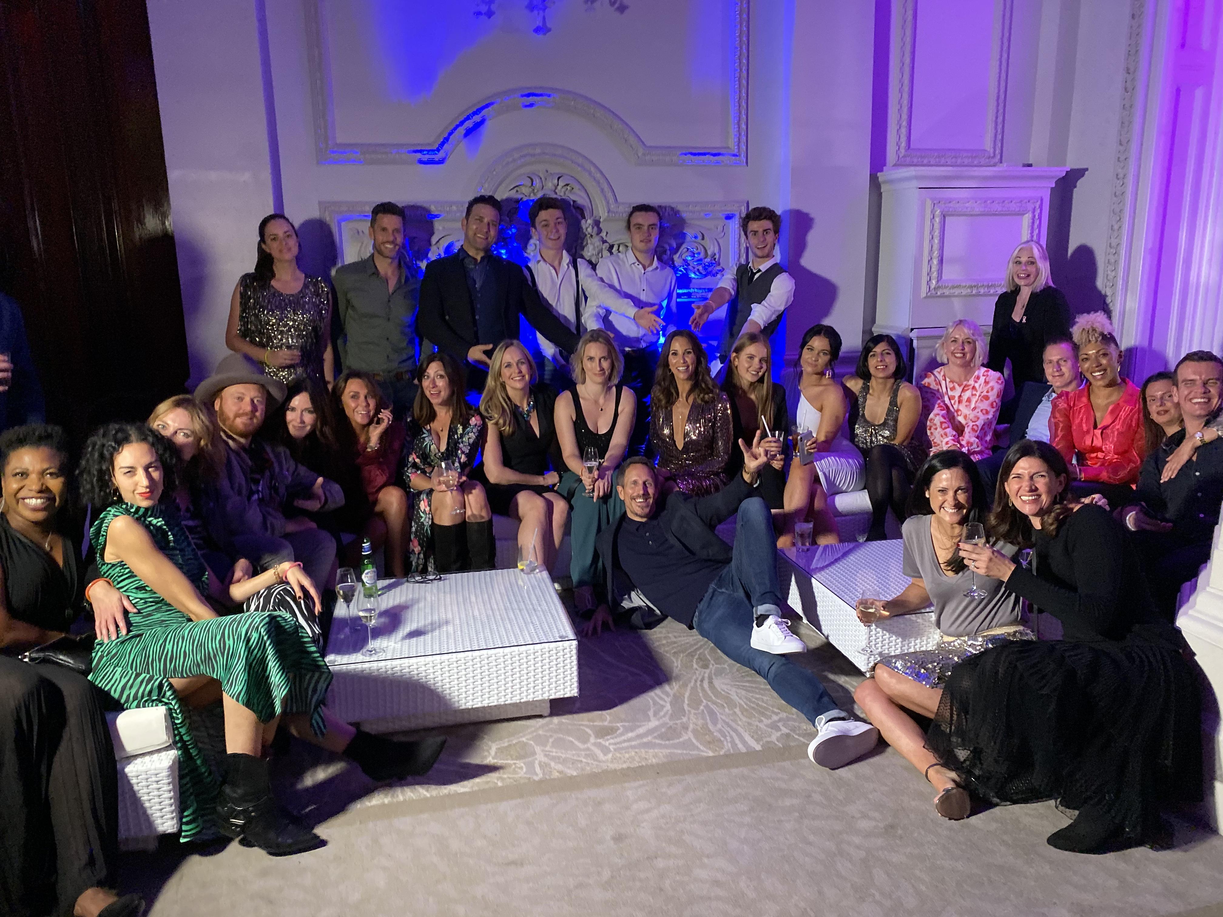 sofa hire: Andrea Mclean 50th birthday
