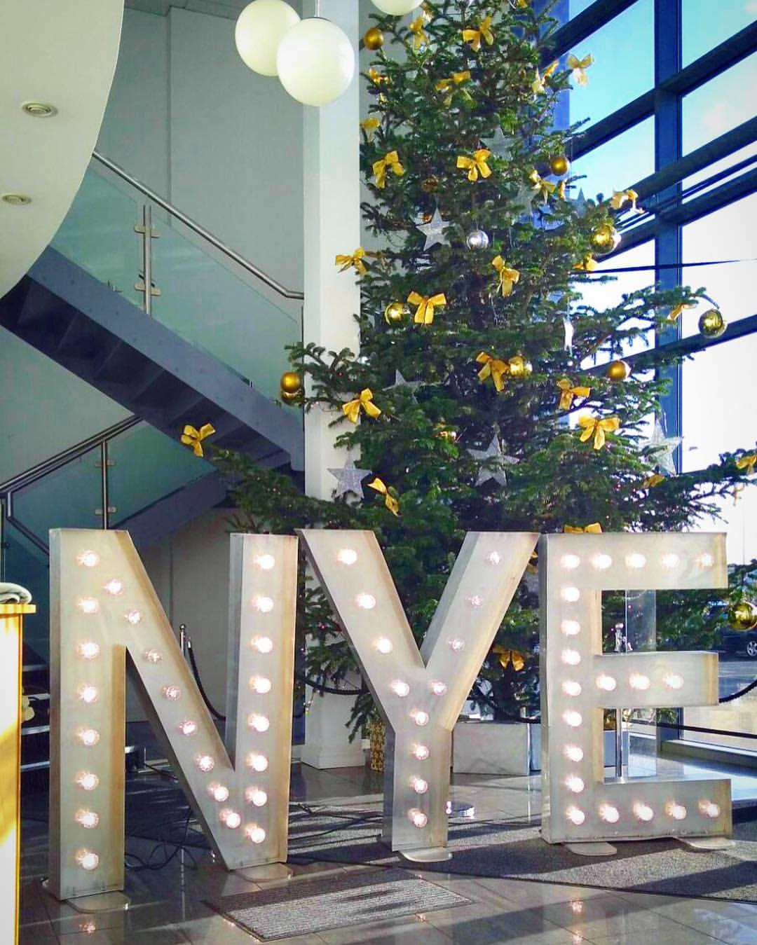 light up letter hire New Year's Eve Christmas