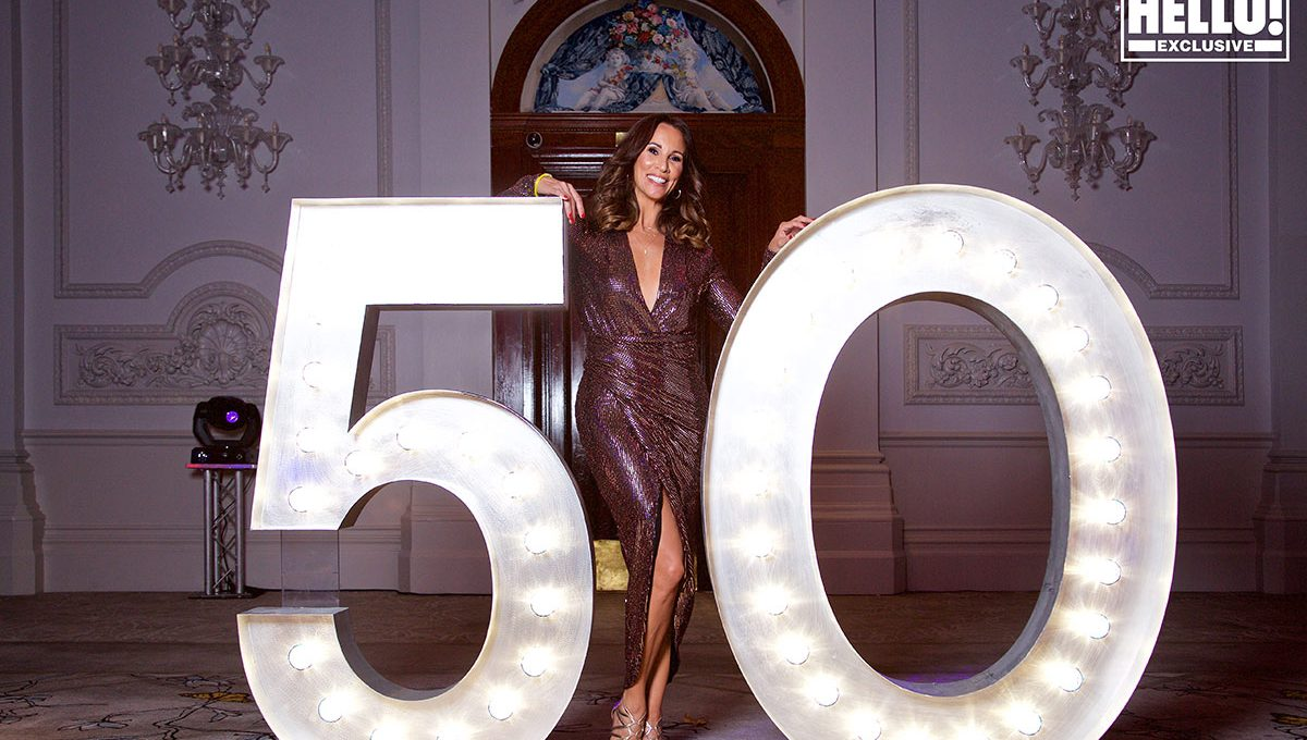 Party furniture hire: light up numbers Andrea McLean