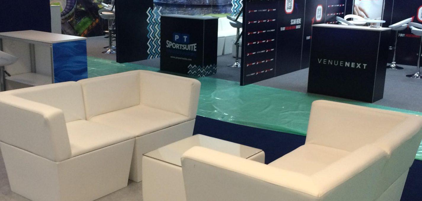 exhibition furniture hire: Twickenham trade show