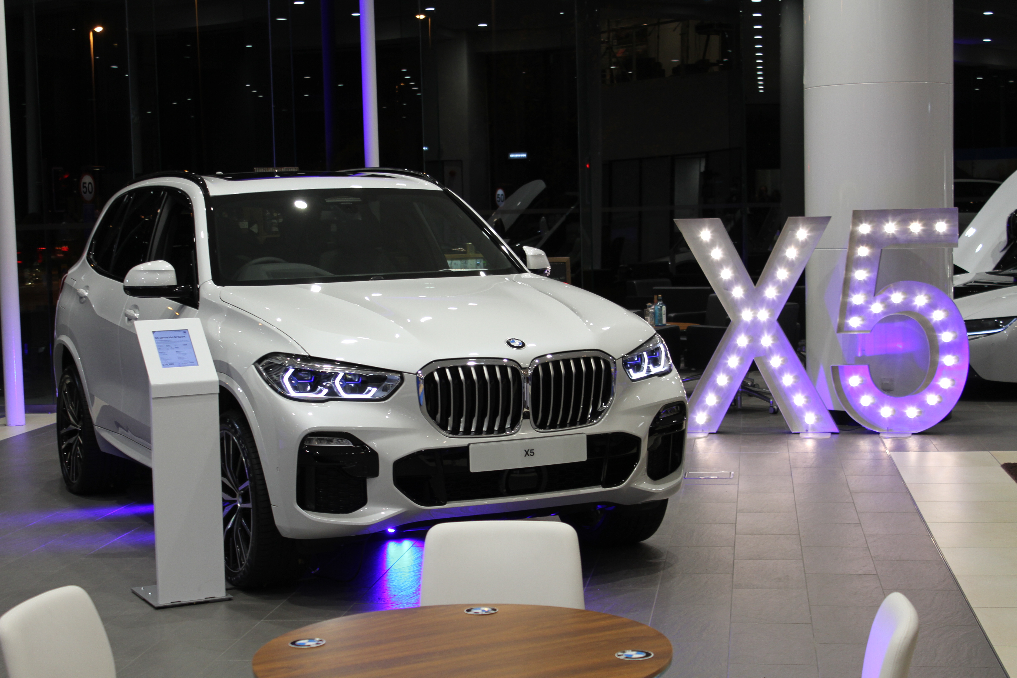light up letter hire for BMW launch