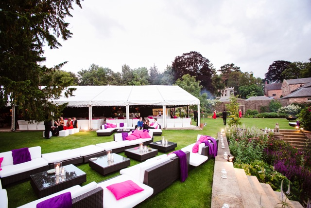 sofa hire for outdoor area at a party