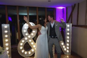 light up letter hire from furniture hire company